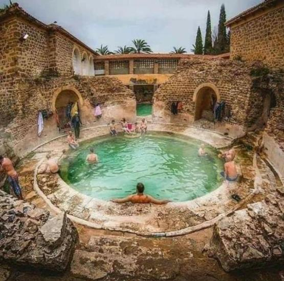 A Roman Bathhouse still in use after 2000yrs, in Khenchela, Algeria.