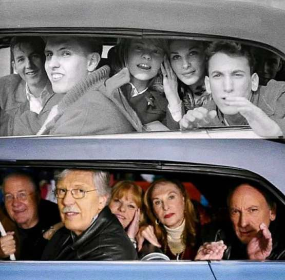 Teens were going to a Beatles concert, and got their picture taken by Ringo in the car next to them