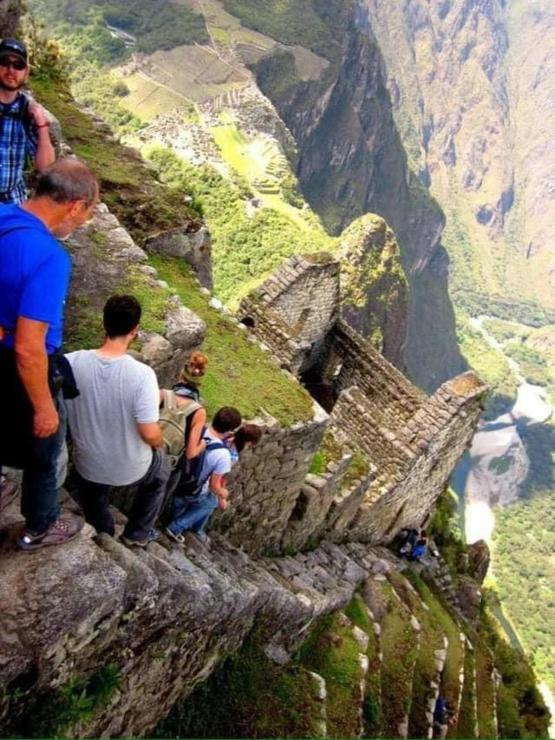 These stairs of death in Peru