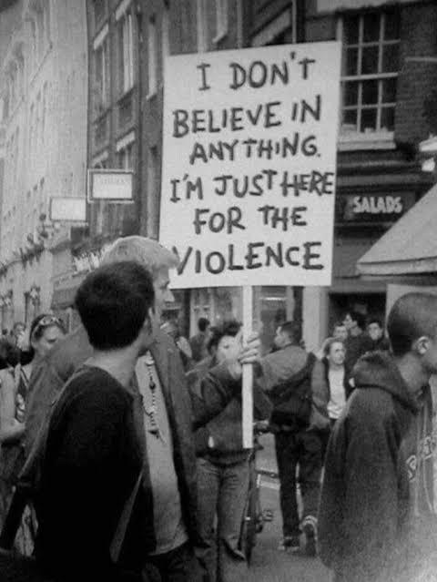 An old protest in the uk.