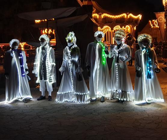 Nighttime costumes in the Hansa Park Germany