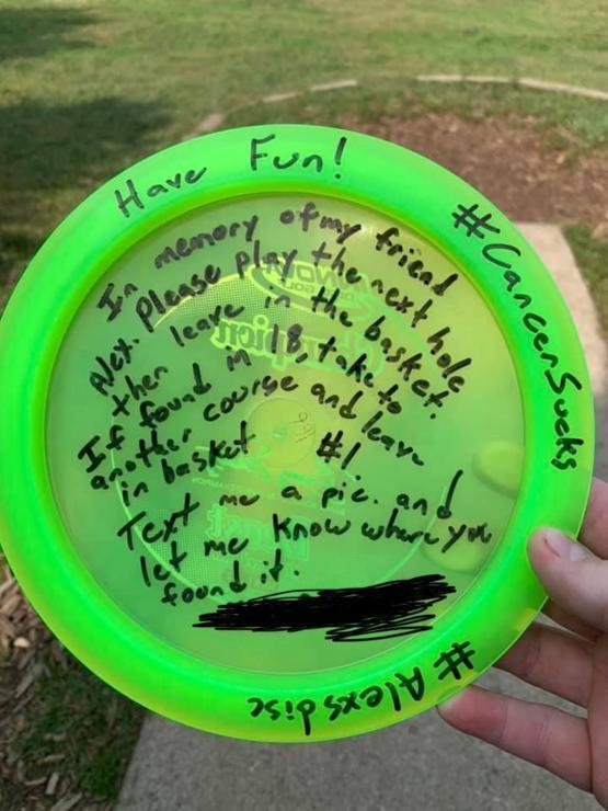 A disc that's making its rounds at my local courses. Fly high brother!