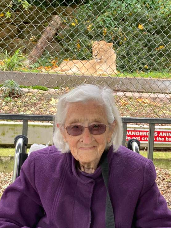 Managed to take my grandmother to the zoo for her 102nd birthday! She was so happy