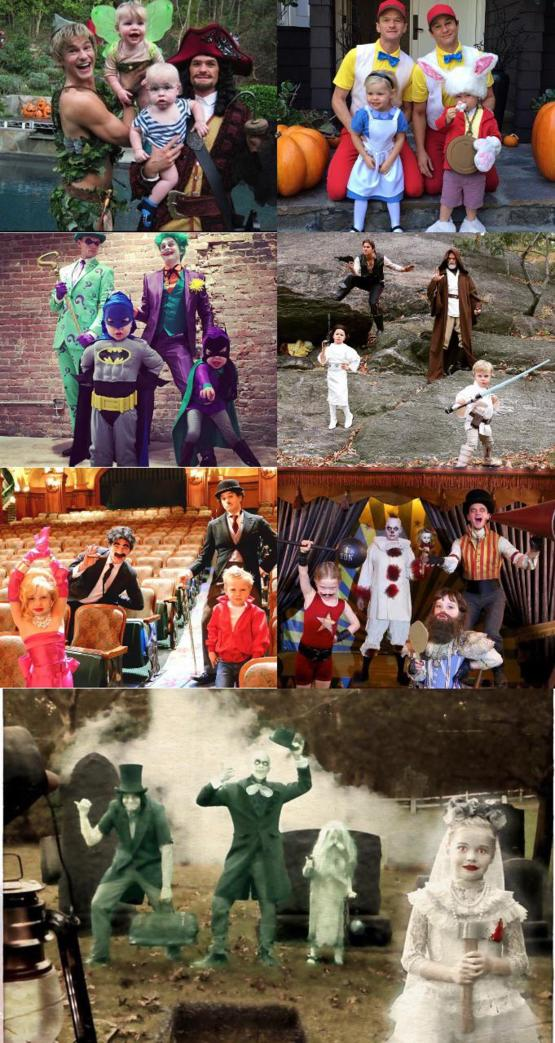 Neil Patrick Harris and family halloween costumes throughout the years