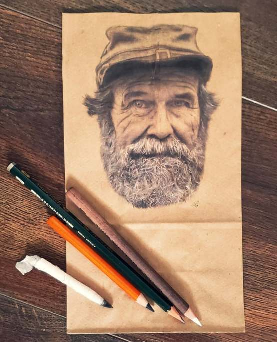 Sometimes I draw people on lunch bags