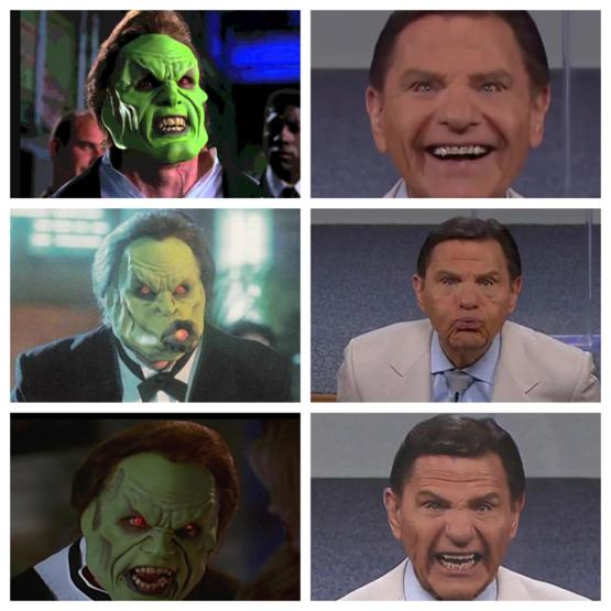 Tell me Kenneth Copeland doesn't look exactly like Dorian when he finally puts on The Mask...