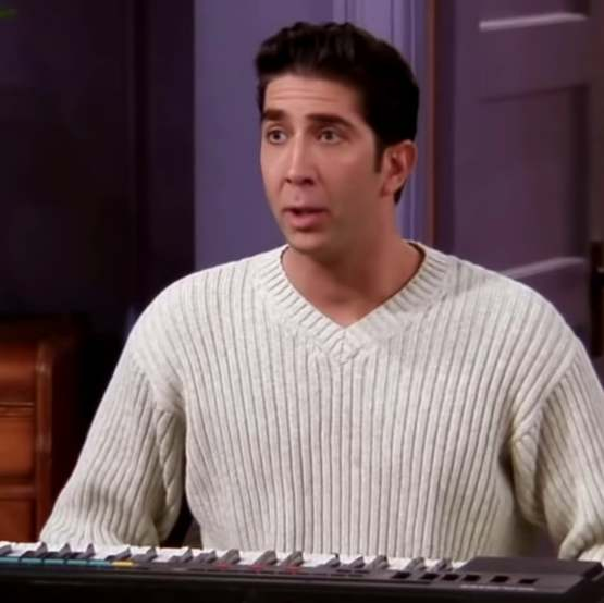 Ross from Friends with Nicolas Cages face on him just makes him look more like Ross