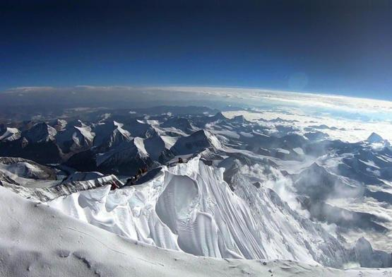Consider the view from Mount Everest.