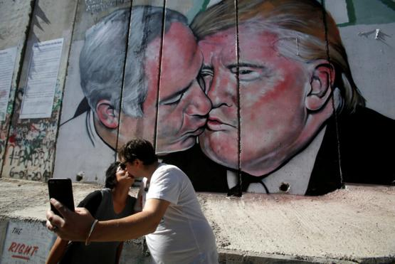 Today, Israeli PM removed trump from his twitter banner. Here is a photo commemorating their love.
