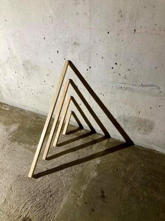 4 sticks, sculpture, Yves Lappert, 2021