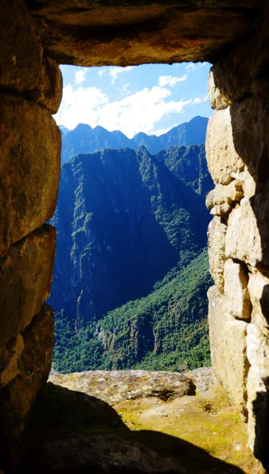 The view from inside Machu Picchu