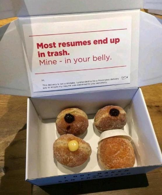 Guy disguises his resume as a donut box to get better chances
