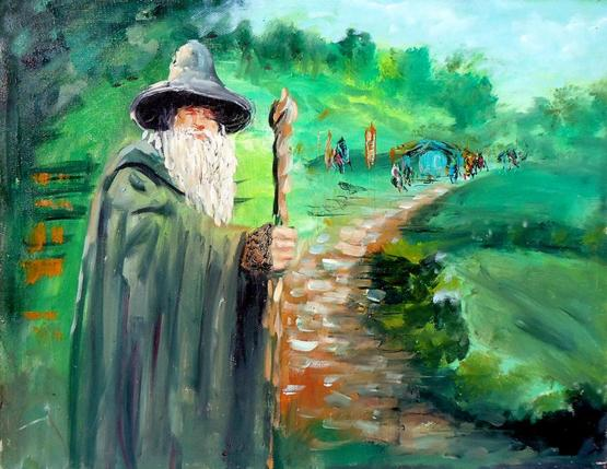 My oil painting of Gandalf the Grey