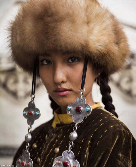 Kyrgyz woman in traditional garb