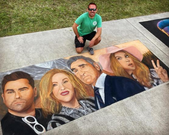 My 'Schitt's Creek' chalk drawing