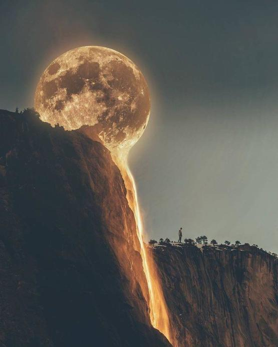 Melting moon (not mine, found on Facebook!)