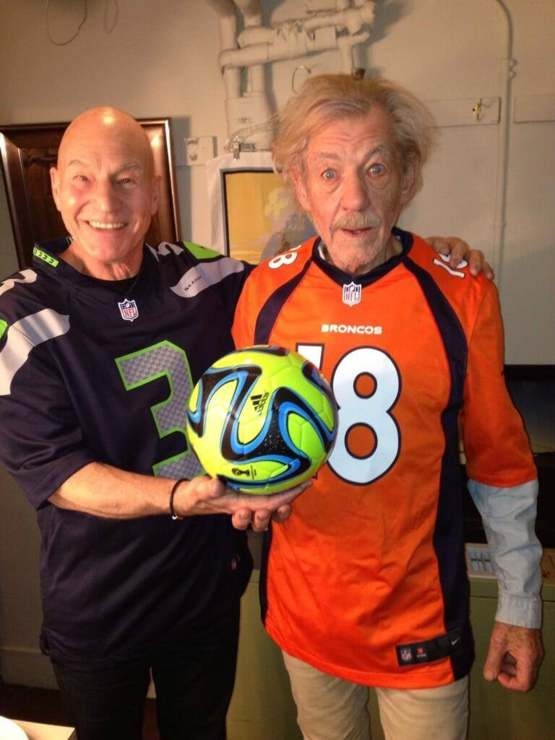 Captain Picard and Gandalf try getting into American sports. They almost have it right.