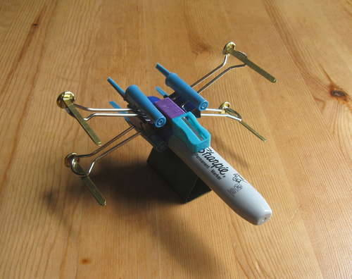 Office supply X-wing starfighter (with how-to in comments)