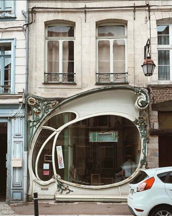 The Art Nouveau storefront in the town of Douai designed by Albert Pèpe in 1906