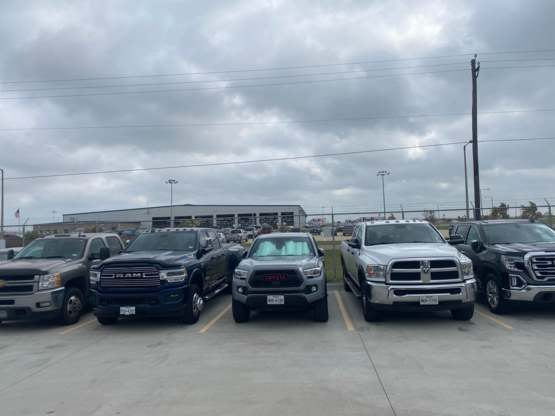 Always thought my truck was too big until I moved to South Texas. This is the parking lot at work.