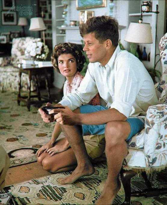 JFK playing the the PS4 for the first time