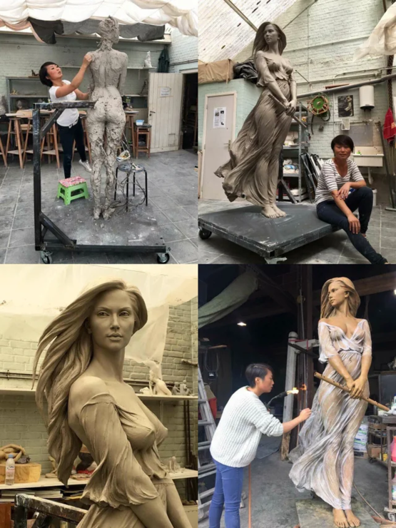 Amazing sculpting work by Luo Li Rong
