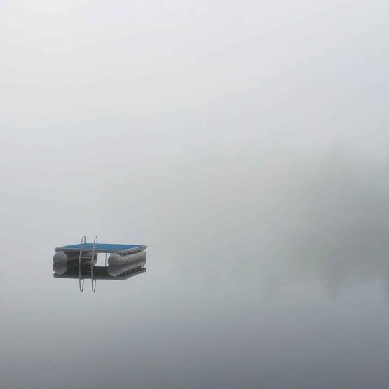 On a quiet lake in Maine, USA...