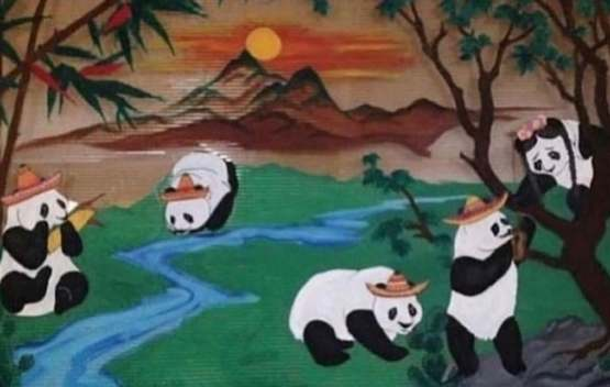 Mexican restaurant used to be Chinese. Instead of painting walls they put sombreros on the pandas