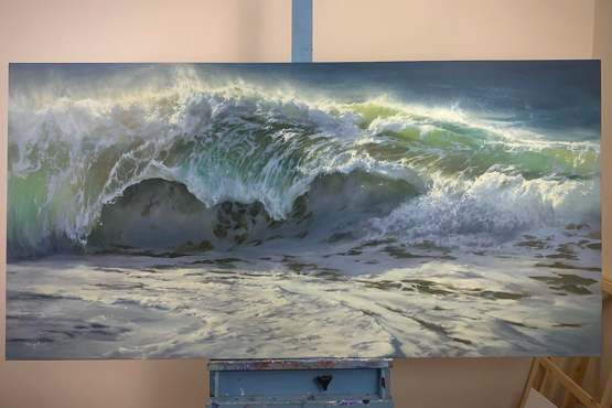 """11 hours later, this is my newest completed oil painting, on 36x72"""" canvas!"""