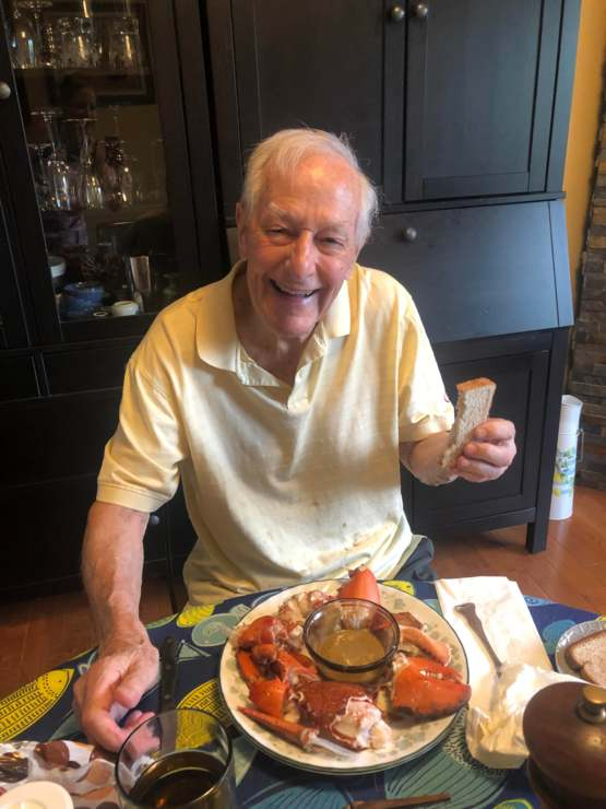 Lobster dinner for my dad's 94th birthday and Father's Day!