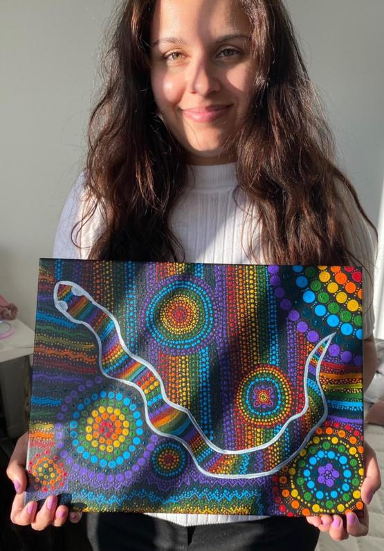 I started painting a few months ago and sold my first piece today. I'm over the moon!!