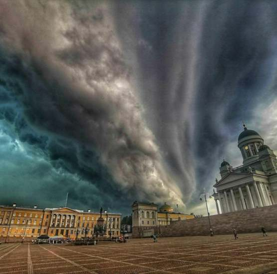 A picture of Helsinki during todays storm