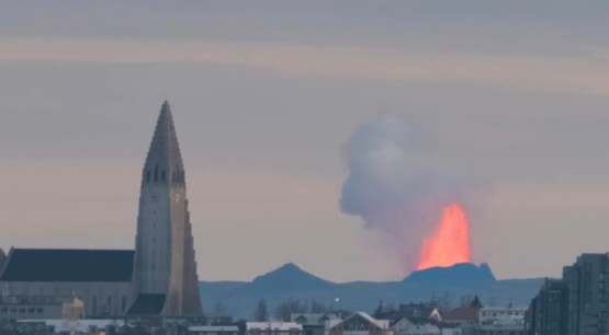 I live in Iceland, and took this amazing photo of Reykjavik Volcano erupting a few weeks ago!