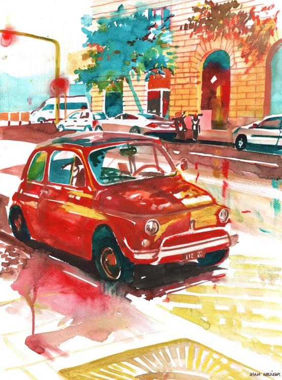 I painted Rome with watercolors