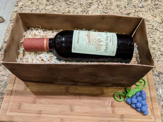 I Wanted To Share The 100% Edible Wine Bottle Cake I Baked For A Friend's Birthday!