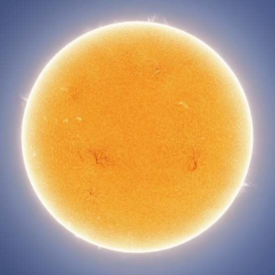 I took an absurdly detailed picture of the sun by combining 84,000 individual images.