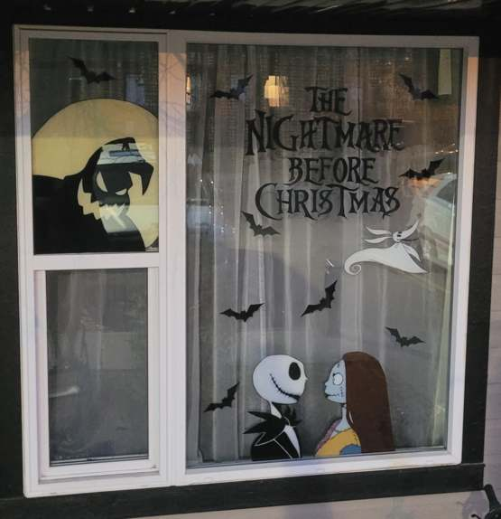 I paint my window every year for Christmas. This year I decided to do a painting for Halloween!