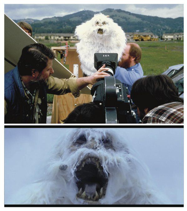 "Shooting inserts of the wampa snow creature for the Hoth-set portion of ""The Empire Strikes Back"""