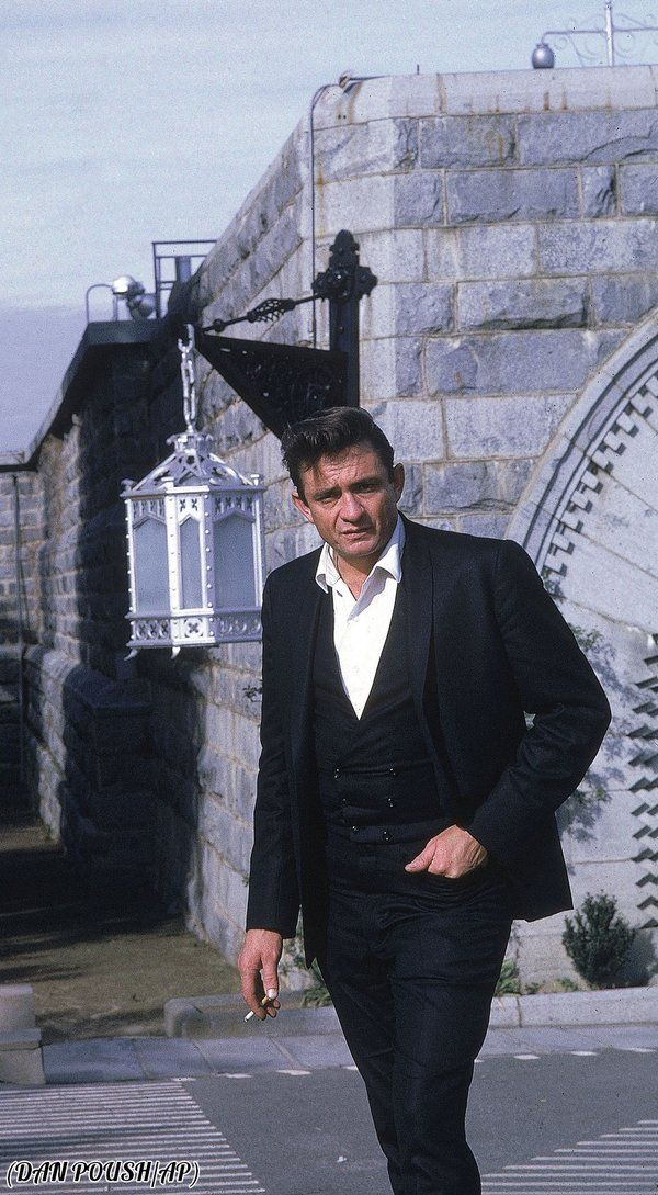 Johnny Cash outside of Folsom Prison, 1968.