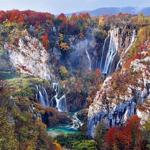 Plitvice National Park in the fall, Croatia