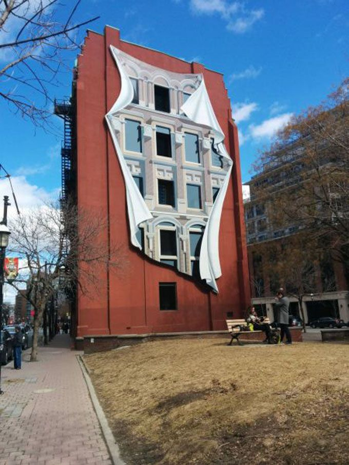 Pretty cool artwork on a building in Toronto