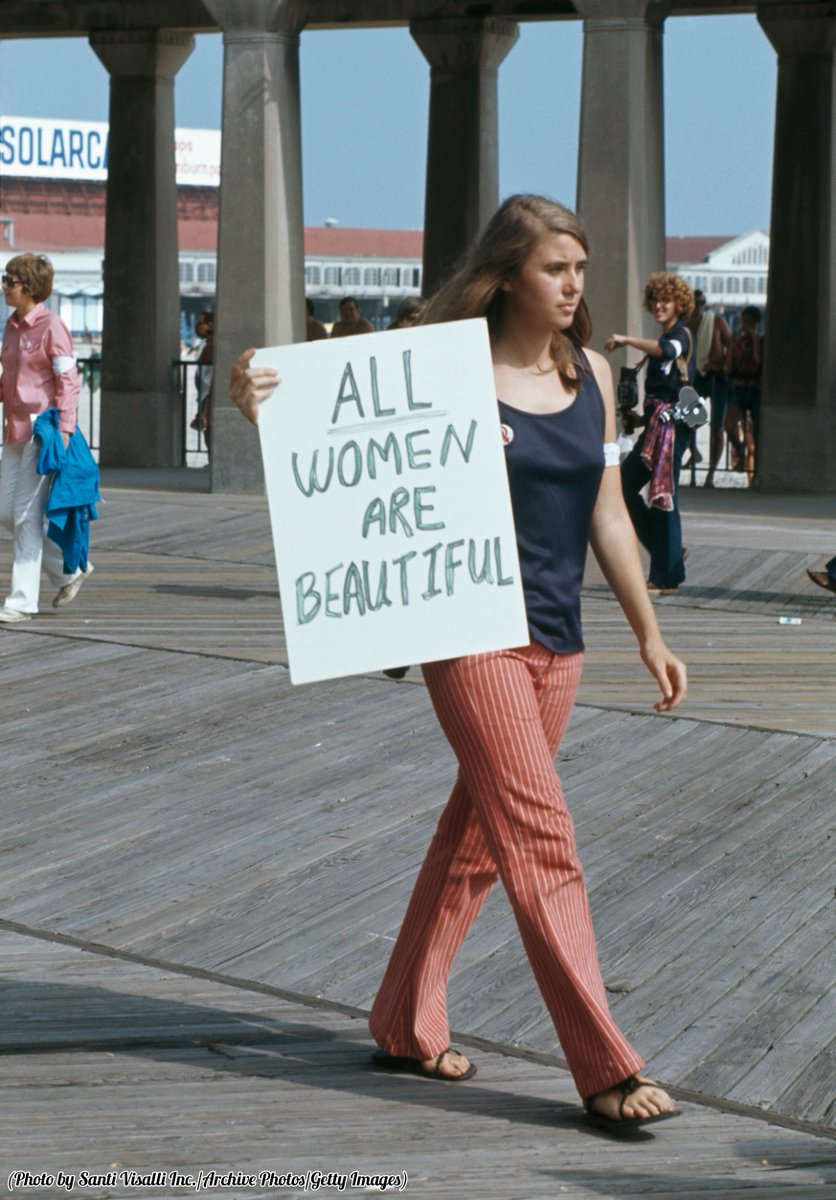 A protest against the Miss America Pageant at Atlantic City, New Jersey, 1969.