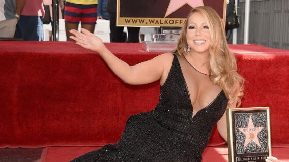 Poor #MariahCarey. Her star on the Hollywood Walk of Fame was vandalized