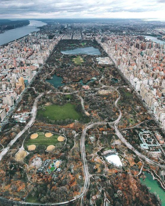Centeral Park: Gorgeous Aerial Shot Of Central Park, NYC