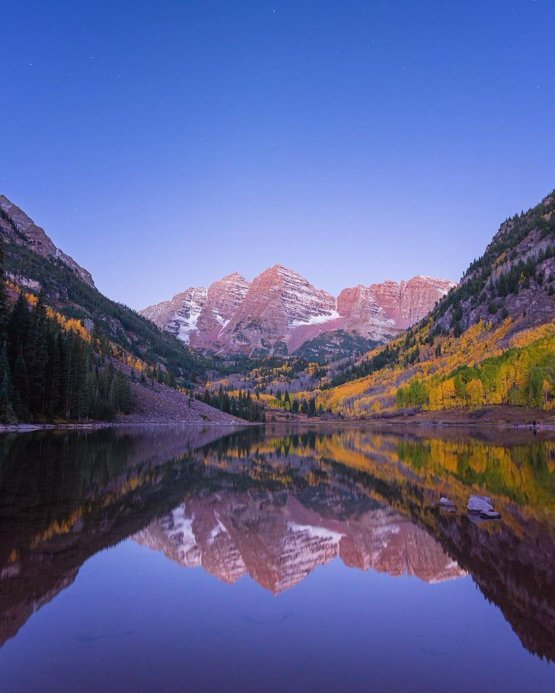 Reflections from Maroon Bells. | Photo by Toby Harriman Visuals