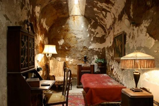 Al Capone's prison cell where he spent about nine months in 1929.
