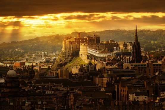 In the heart of Edinburgh, this castle sits on-top of the plug of an extinct volcano!