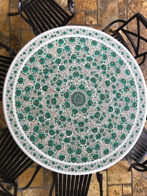 Awesome Marble Inlay Table Done By Subhash Emporium Agra India Download Free Architecture Designs Scobabritishbridgeorg