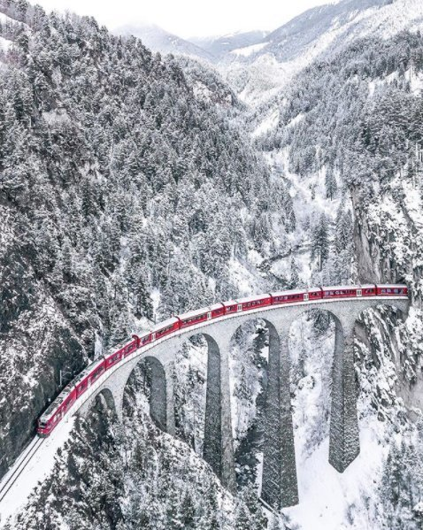 Catching a train through Switzerland looks magical   Sebastian from sebastianmzh on Instagram