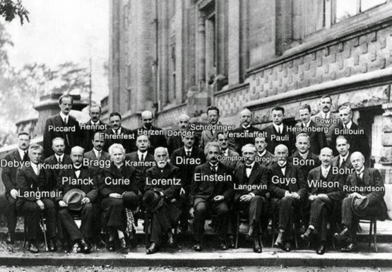 A generation of scientists at the Solvay Conference, 1927.